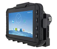M700DM8 rugged tablet on vehicle dock