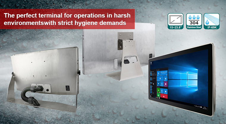 Winmate Unveils IP69K Stainless P-Series with Conduit Pipe in Panel PC and Display Options
