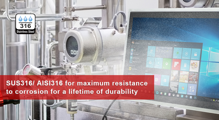 Winmate's Stainless Product Series Upgraded to SUS316/ AISI316