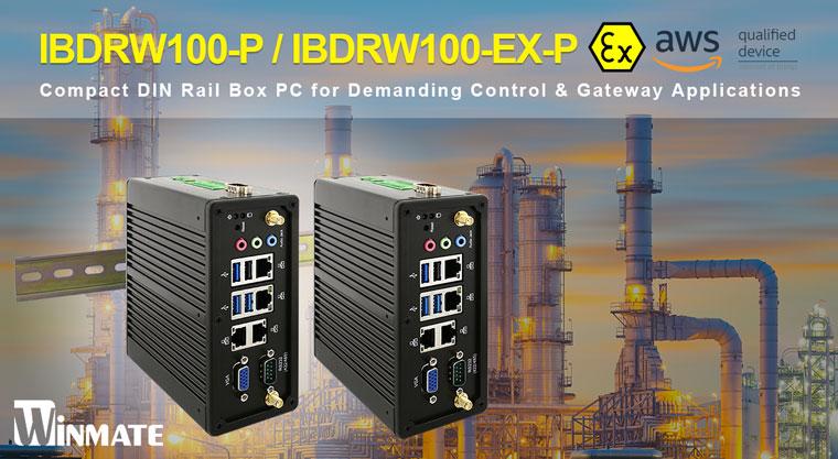 Winmate Unveils IBDRW100-P and IBDRW100-EX-P DIN Rail Box PC with Intel® Pentium® N4200 Processor