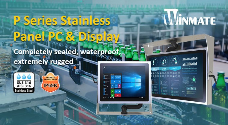 Winmate Stainless P Series Panel PCs and Displays Feature New Design