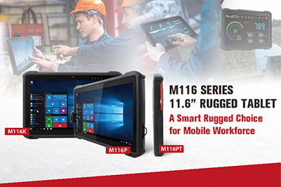 "Winmate Launches M116 Series 11.6"" Windows Rugged Tablets"